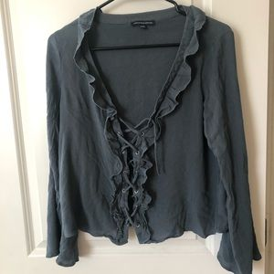 American Eagle Lace-Up Blouse